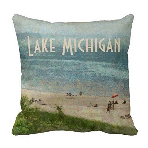 CARL Bing Kinder Kissenbezug Retro Lake Michigan Shoreline Beach Überwurf Kissen Fall Shoreline Fällen