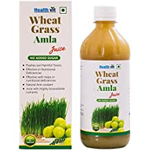 Healthvit Wheat Grass Amla Juice - 500 ml