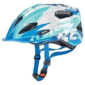 Uvex Unisex - Kinder Fahrradhelm Quatro Junior, blue-white, 50-55cm, 4142571415