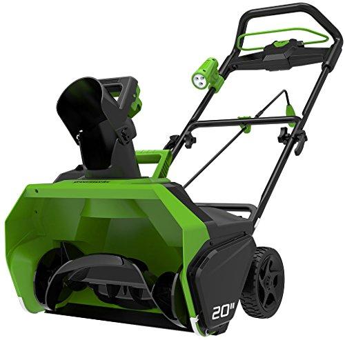 Greenworks Tools 2600007Schneefräse kabellos, Li-Ion, ohne Akku oder Ladegerät, 40V, Grün