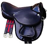 Pony-Shettysattel LittleBilly, komplettes Set auch für Holzpferde - Farbe: dunkelblau Sattelset für Pony oder Shetty oder Holzpferde