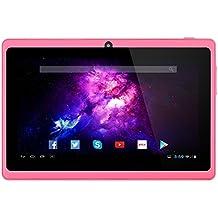 Alldaymall A88X Tablet de 7 Pulgadas - Android 4.4, Quad Core,8 GB ROM, HD 1024x600, Wi-Fi, Bluetooth, OTG,Soporte para juegos 3D -