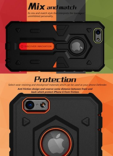 IPhone 6 Plus & 6s Plus Fall NILLKIN Tough Defener II Gehäuse Shockproof TPU + PC Kombi Hülle für iPhone 6 Plus & 6s Plus by diebelleu ( Color : Green ) Red