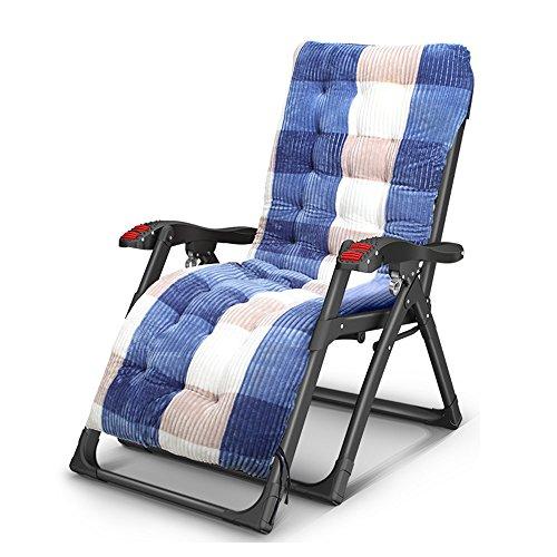 Faltende Lounge Chairs Multifunktionale Casual Siesta Stuhl Massage Sessel mit Getränkehalter Portable Gartenstuhl Sun Liegestühle Gartenstuhl Sommer Strand Stühle, abnehmbare Wattepad ( Farbe : Chairs+Blue Mats ) (Fuß-massage-stuhl)