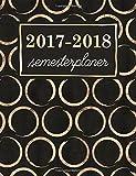 Semesterplaner: Studentenkalender, Wochenplaner und Studentenplaner für Studenten: Goldschimmer-Kreise auf Mitternachtsschwarz (Geschenkidee: Planer und Kalender fürs Studium)