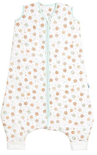 Schlummersack Baby Sommerschlafsack mit Füssen 1 Tog - Eulen - 18-24 Monate/90 cm