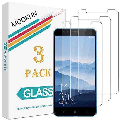 [3 Stück] MOOKLIN Elephone P8 Mini Panzerglas Displayschutzfolie,[Anti-Kratzen] Handy Schutzfolie für Elephone P8 Mini