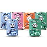 Comida para perros completa, 100% ORGANICA, MIX Pavo, Vaca, Pato, Pollo, Paquete x6 latas (400 Gr.)