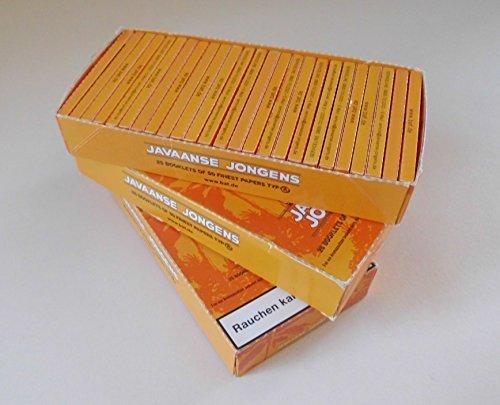Unternehmen Und Papier K (3 Boxen - Javaanse Jongens Zigarettenpapier (je 25x50))