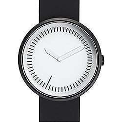 Zwischenzeit Uhr, Schwarz Silikon Band von Denis Guidone für Projekte Uhren