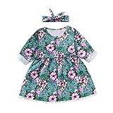 Prinzessinkleid Abendkleid Karneval Kostüm, Malloom Kleinkind Kind Baby Mädchen Prinzessin Blumenkleid Haarband Baumwollkleidung Kleid Sets