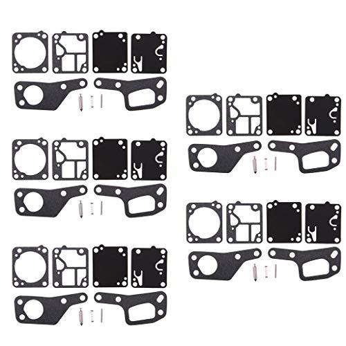 FLAMEER Kit de Réparation de Carburateurs Tronçonneuse Mac 110 120 - Noir 5pcs