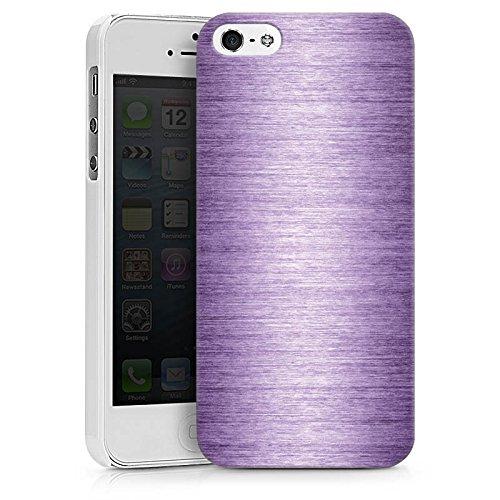 Apple iPhone X Silikon Hülle Case Schutzhülle Metal Look Lavender Metall Lila Hard Case weiß