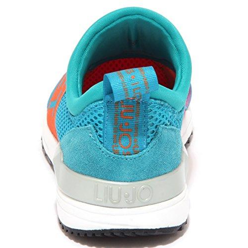 9002P sneaker LIU JO turchese/fucsia scarpa donna shoe woman turchese/fucsia