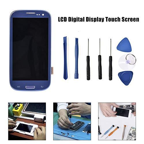 Cracklight para el Conjunto de Pantalla Samsung Galaxy S3 i9300 i9305 Pantalla táctil LCD Pantalla Digital + Juego de desmontaje (Azul Zafiro)