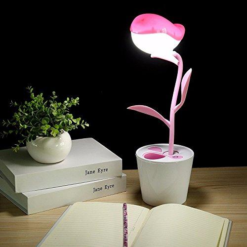 Ehime Das Mobilteil aufladen Viertel hinterlässt eine kleine Schreibtischlampe Auge lernen Schreibtische Schlafzimmer Bett lesen Energie Schüler - rosa Vögel der Freiheit