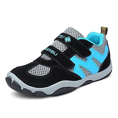 katliu Kinder Schuhe mit Klettverschluss Jungen Trekking Wanderschuhe Mädchen Halbschuhe Turnschuhe Outdoor Sportschuhe Lauf Sneaker