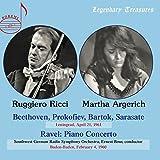 Beethoven, Prokofiev, Bartok, Sarasate : Leningrad, April 21, 1961 / Ravel : Piano concerto - Baden-Baden, Feburary 4, 1960