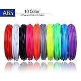 TIANLIANG04 100 Meter 10 Farbe/Set 3D-Pen Filament ABS 1,75 mm Kunststoff Gummi Verbrauchsmaterial Material Passform 3D-Pen für Kinder Geschenke