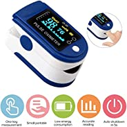 JOYWAY-Blue carbon Fingertip Pulse Oximéter, Multi Purpose Digital Monitoring Pulse Rate and SpO2 with LED Dig