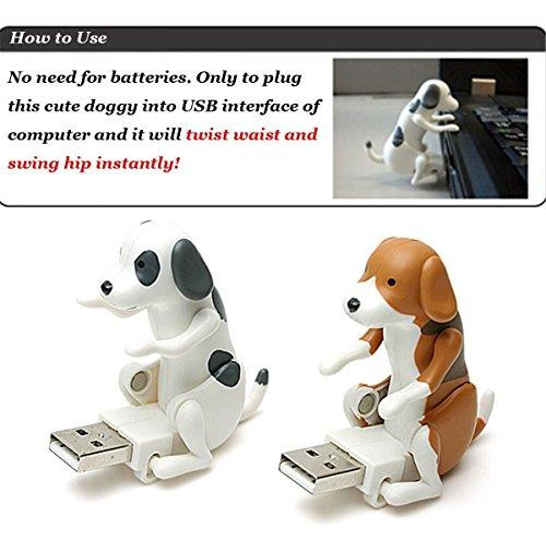 ruiio kein Memory-Kapazität USB Flash Drive Disk Spot Hund Cute Geschenk: Humping Spot Dog Toy, plastik, braun, 2.8*6*5.7cm - 3