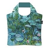 ecozz Water Lilies - Claude Monet, faltbar, Einkaufstasche mit Reißverschluss, Wiederverwendbar,...