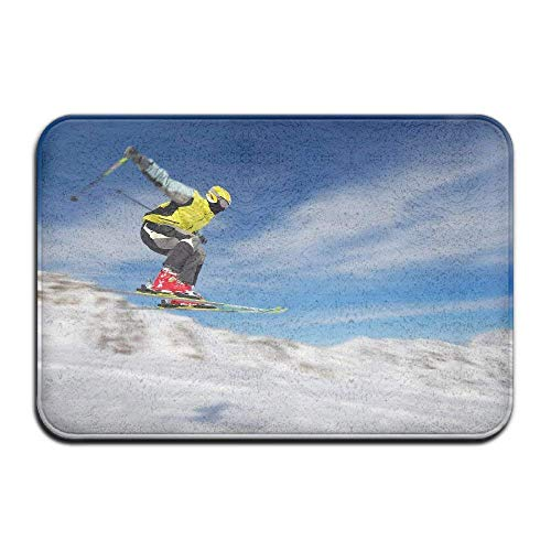 Zcfhike Carpet Non-Slip Stain Fade Resistant Door Mat Freestyle Skiing Outdoor Indoor Mat Room Rug -