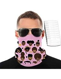 IUBBKI The Black Boys and Girls Pañuelo para la boca y el cuello con 10 filtros de carbono activados