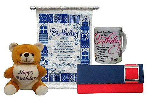 saugat traders women's blue wallet , scroll card, soft toy, coffee mug Saugat Traders Women's Blue Wallet , Scroll Card, Soft Toy, Coffee Mug 51DaopXPJ 2BL