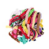 #6: BESTOYARD DIY Springy Stretch Knitting Sewing Elastic Ribbon for Girls/ Teen/ Women Hair Ties Headbands Bows 15 Pieces 15 Colors 1 Meter Each