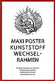 Empire Merchandising 649423 - Cornice per Maxi Poster da 61 x 91,5 cm, Marca Shinsuke, Colore: Rosso
