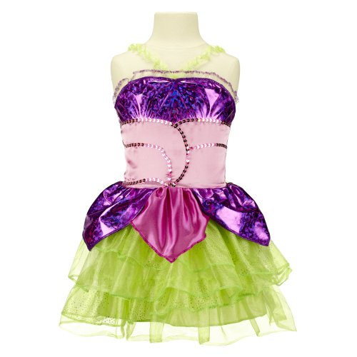 Winx Club Costume Fata Believix Flora, 4/6 anni