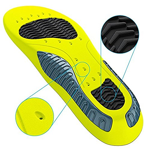 Einlage für Sportschuhe & Arbeitsschuhe I Einlegesohle zuschneidbar I Anti Schweiß Schuhsohle I Fußbett für mehr Stabilität & Stoßdämpfung I Gelsohlen I Schuheinlage für Männer & Frauen