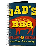 CafePress – Vintage Plaque en métal – Dad's BBQ – Raster VE – spirales Journal ordinateur portable, journal intime, DOT Grid
