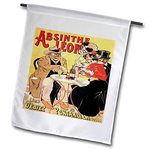 3dRose FL_149285_1 Vintage-Poster, Motiv: Absinthe Leon, französischer Wein, 30,5 x 45,7 cm