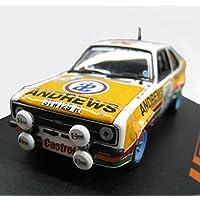 ASENER 1/43 Escala Ford Escort 1800 1977 Modelo De Coche De Carreras De Aleación