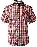Fifty Five Herren Freizeithemd 2911-002, Mehrfarbig (Red-Black Check 099), Kragenweite: 44 cm (Herstellergröße: XL)