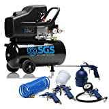 24 Litre Air Compressor & Tool Kit – 9.6 CFM, 2.5 HP