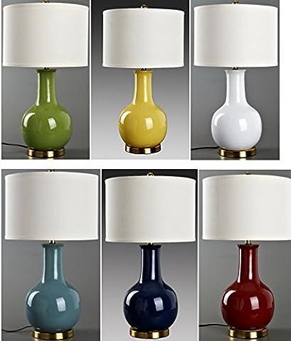 FDH Lampe De Table En Céramique Gourde Chiffon, 170*410mm