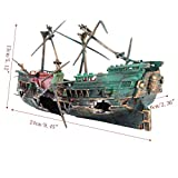 ZHJZ Ornamento della nave rotta del naufragio dell'acquario per la decorazione del paesaggio del carro armato di pesce Decorazione del Paesaggio Acquario