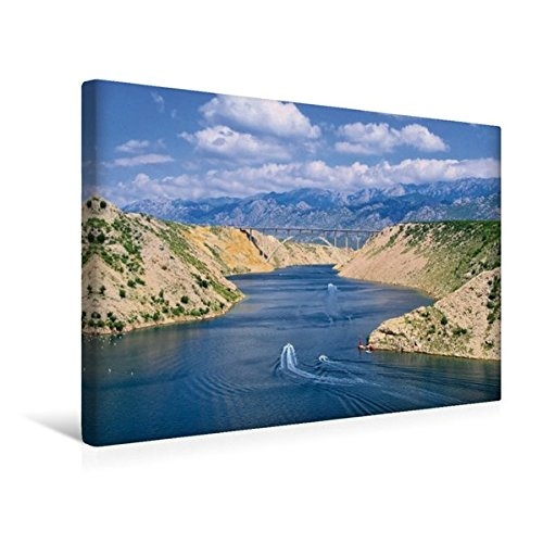 Preisvergleich Produktbild Premium Textil-Leinwand 45 cm x 30 cm quer, Novigrader Meer | Wandbild, Bild auf Keilrahmen, Fertigbild auf echter Leinwand, Leinwanddruck: Kroatien (CALVENDO Orte)