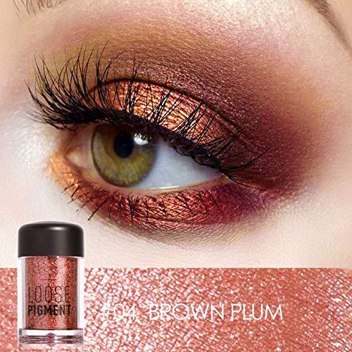 Tiomiey 18 Colors Glitter Eye Shadow Cosmetic Makeup Diamond Lips Loose Makeup Eyes Pigment Powder Comestic Single Eye Shadow (#04) - Eye Shadow 4 Loose Powder
