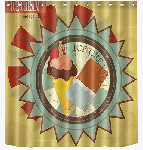 AZZXZONa Polyester 100% Stoff Bad Vorhang 180X200 cm 12 Haken EIS Runden Schild Duschvorhang Hotel Zu Hause Mädchen Balkon Partition Dekorative -