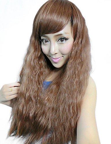 60 cm Perruque cheveux longs Fluffy synthétique de haute qualité