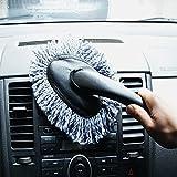 VWH Microfibre Car Dash Duster Nettoyage d'intérieur de voiture Nettoyage à Domicile Brosse à poussière gris