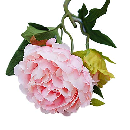Ingrirt5Dulles 1 stück künstliche blume pfingstrose girlande garten diy bühne party home hochzeitsdekor Light Pink
