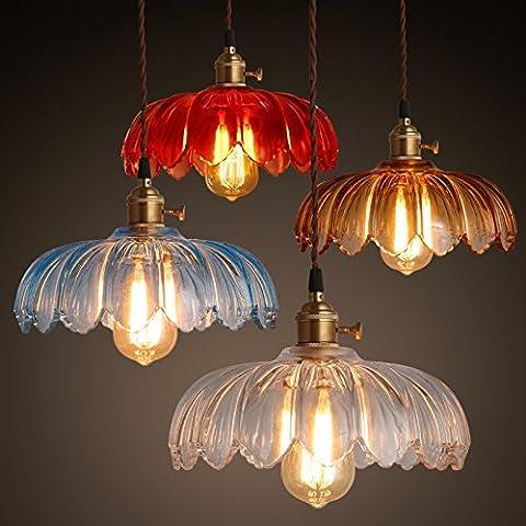 Elegante semplice vetro creativo Cheliers Cafe Ristorante Bar Balcone lampade personalizzate in vetro di colore singolo luci testata