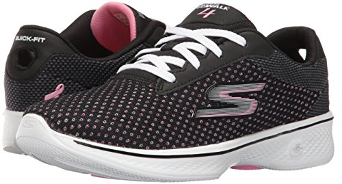 Skechers Performance Women's Go 4-Empower Walking Shoe, Black/Pink, 6 UK (39 EU)