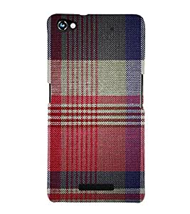 Red Checks Pattern 3D Hard Polycarbonate Designer Back Case Cover for Micromax Canvas Hue 2 A316