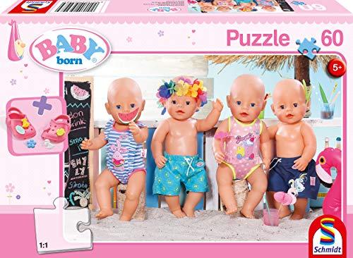 Schmidt Spiele Puzzle 56298 Baby Born, Im Sommer, 60 Teile Kinderpuzzle, bunt